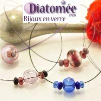bijoux en verre Diatomée