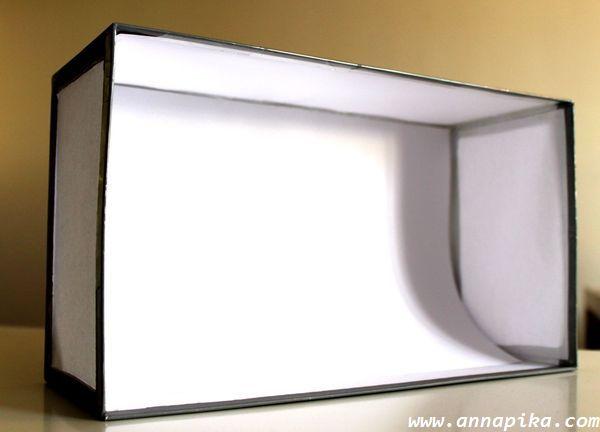 boîte à lumière fond uni