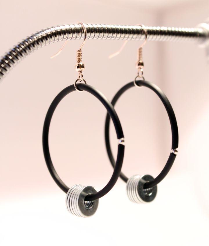 boucles d'oreille créoles Récup Industrielle