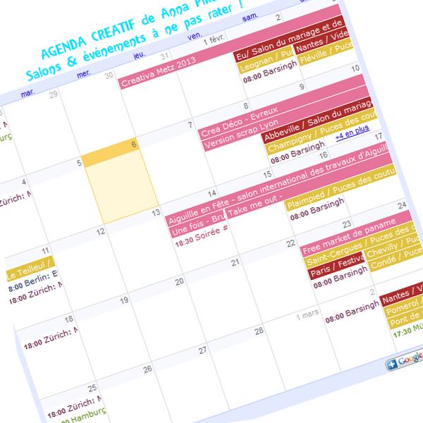 calendrier agenda salons créatifs