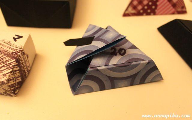 boîte triangle languette