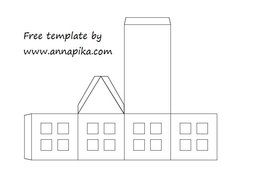 Template de maison en papier